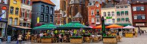stuttgart gamla stad panorama 300x90 - City Square With Munsterkerk In Roermond, Germany